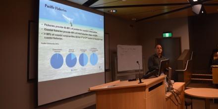 Quentin Hanich presentating at SSGM seminar
