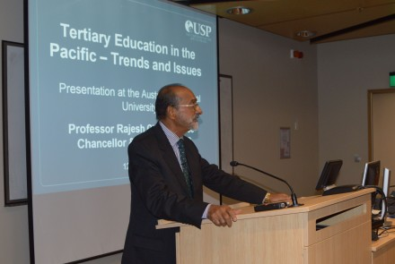 Professor Rajesh Chandra is the Vice-Chancellor and President of The University of the South Pacific. Image SSGM