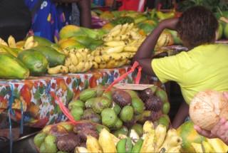 Fruit market in Port Villa, Vanuatu