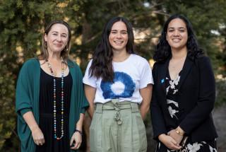 L/R: Rachel England (moderator), with event speakers Pip Louey and Amelia Faotusia (c) Australia Awards Women's Leadership Initiative