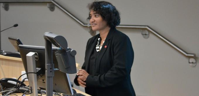 Patricia Kassman presenting during SSGM seminar. Image SSGM