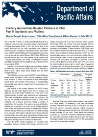 Cover of In Brief 2021/05 Sorcery Accusation-Related Violence in PNG Part 5: Incidents and Victims