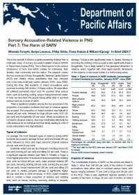 Cover of In Brief 2021/07 Sorcery Accusation-Related Violence in PNG Part 7: The Harm of SARV
